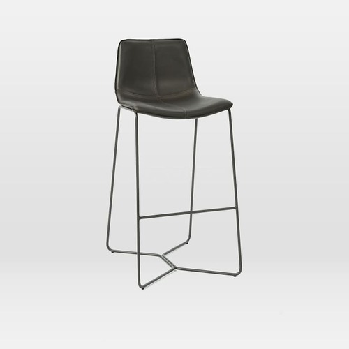 Used West Elm Slope Leather Bar & Counter Stools for sale on AptDeco