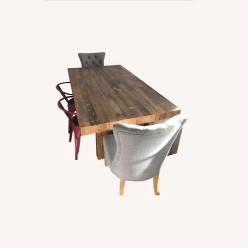 Used West Elm Emmerson Table with Bench and Cushion w 4 Chairs for sale on AptDeco