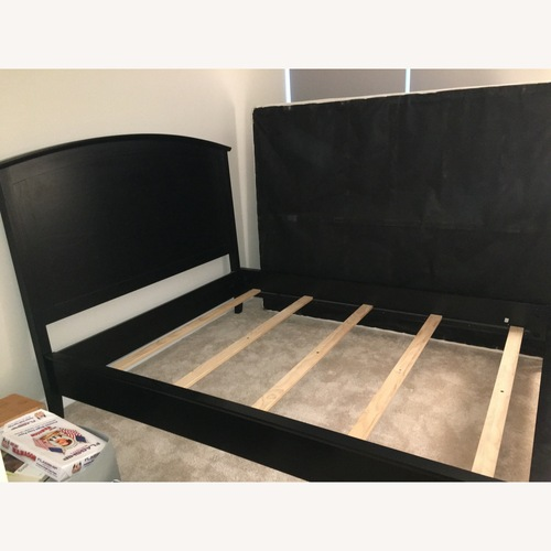 Used Pottery Barn Chloe Black Queen Size Bed for sale on AptDeco