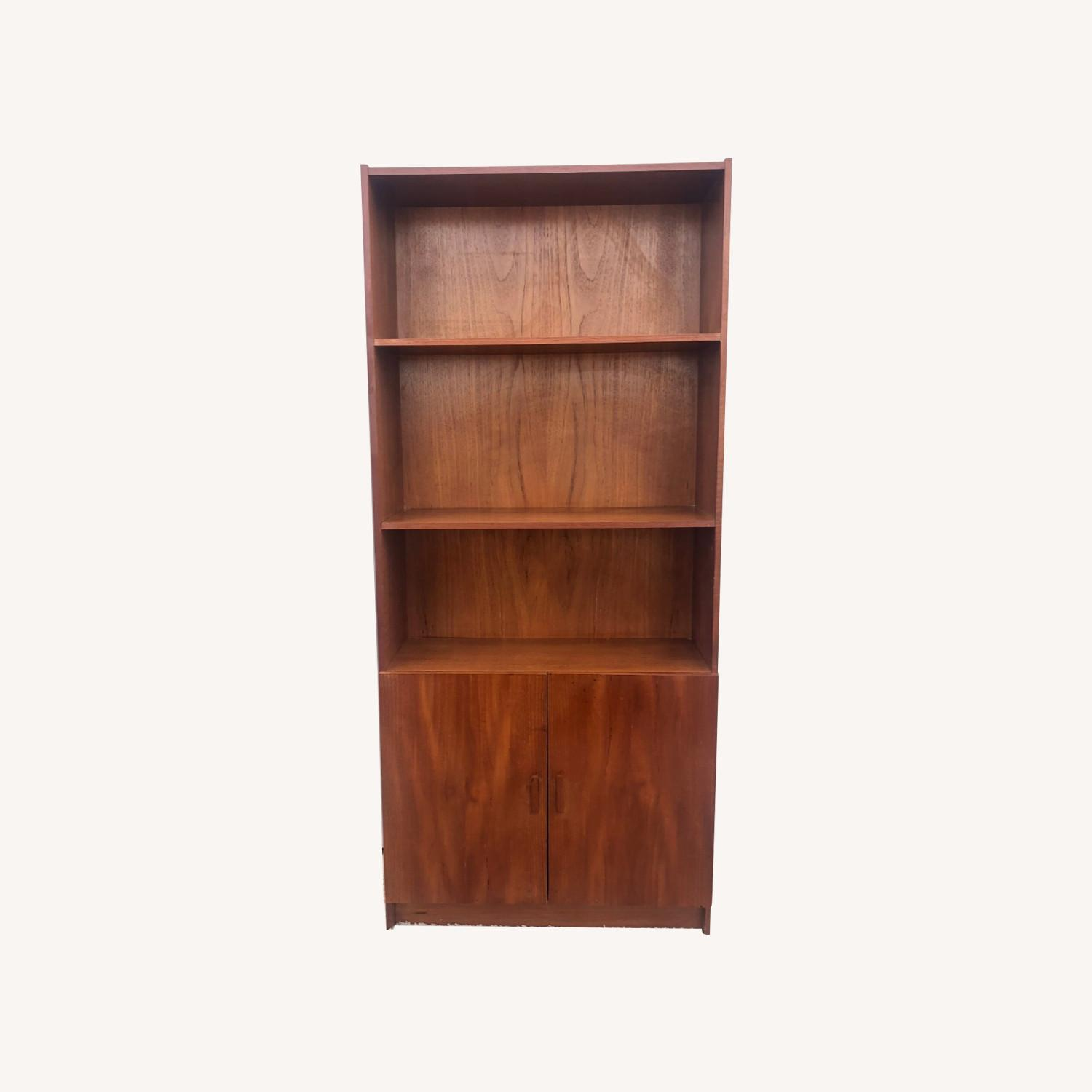 Danish Modern Teak Shelving with Cabinet - image-0