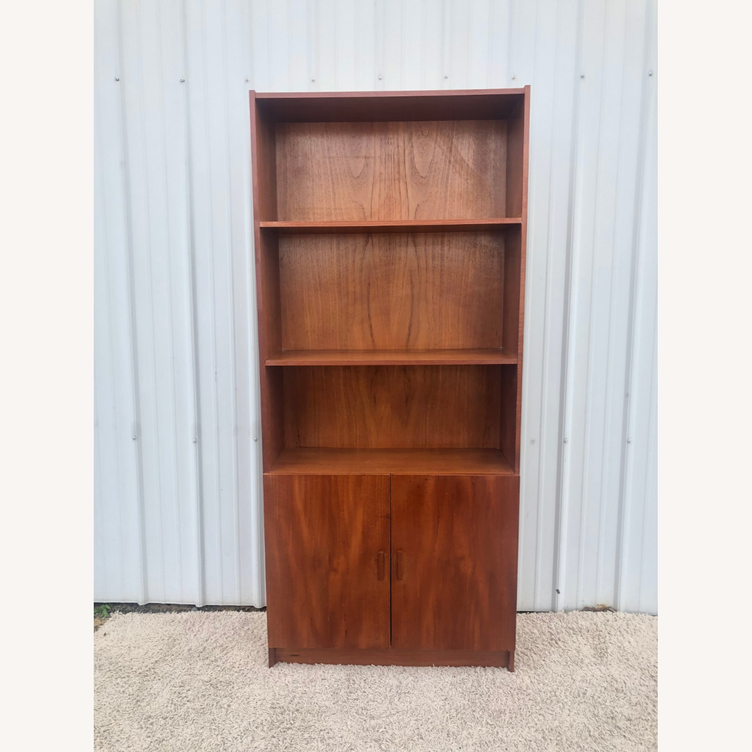 Danish Modern Teak Shelving with Cabinet - image-1