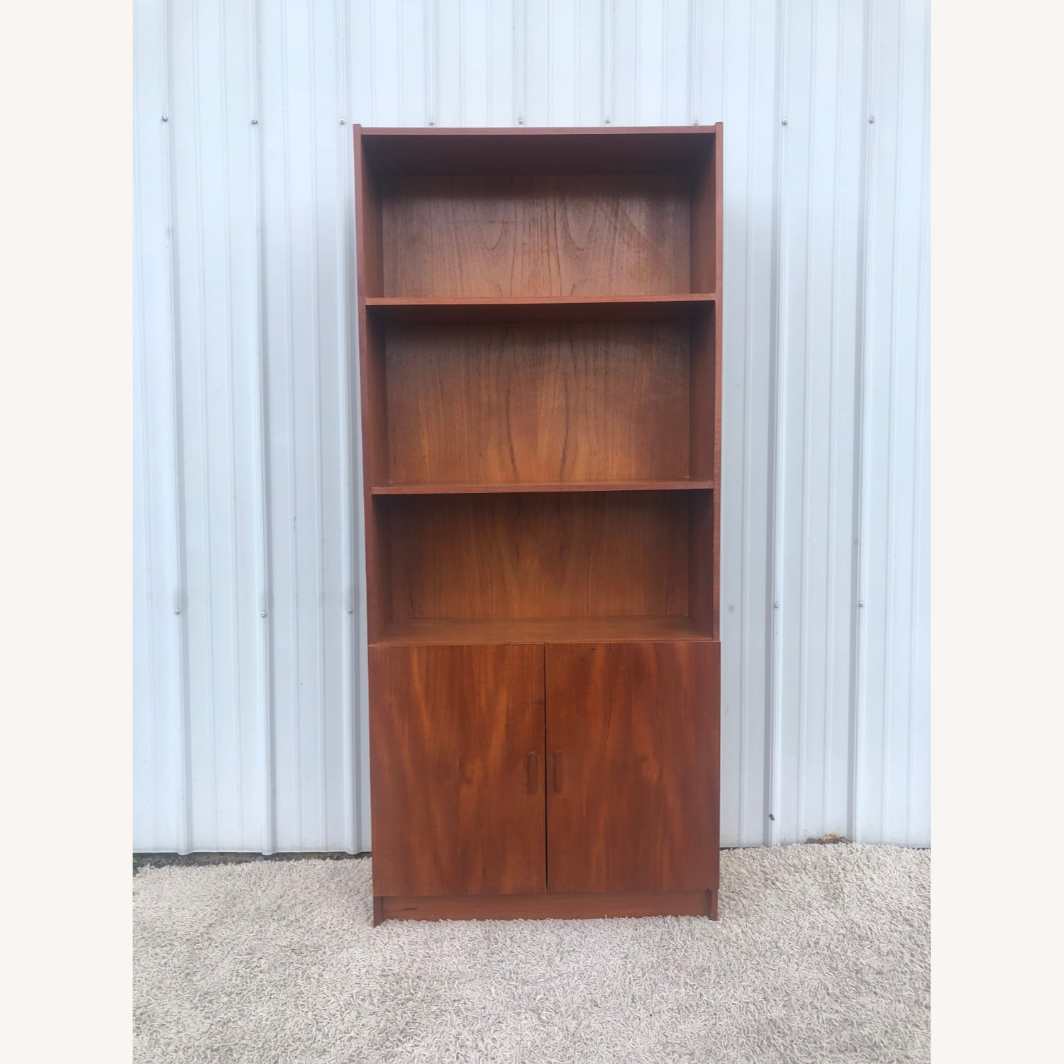 Danish Modern Teak Shelving with Cabinet - image-12