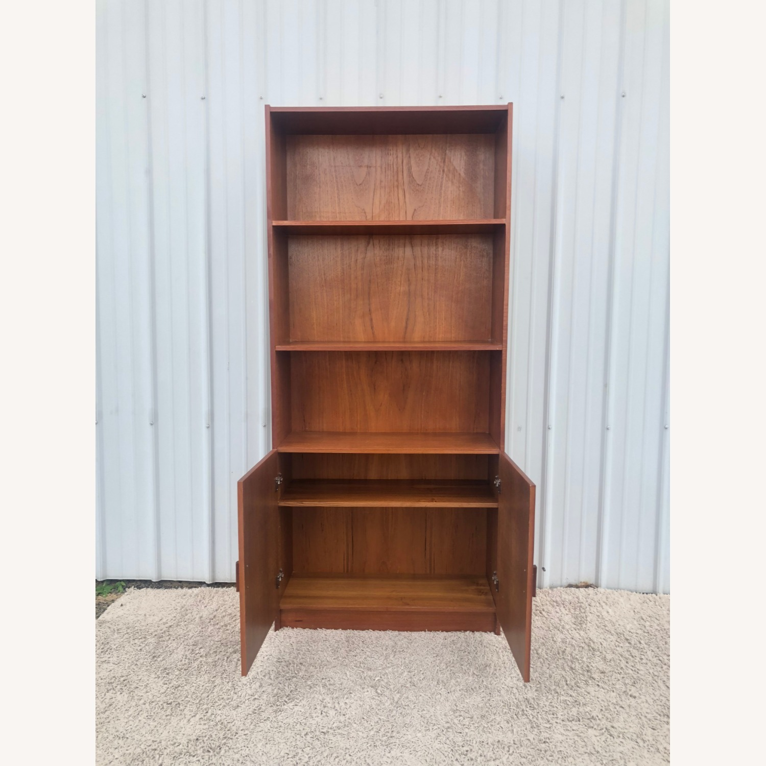 Danish Modern Teak Shelving with Cabinet - image-3