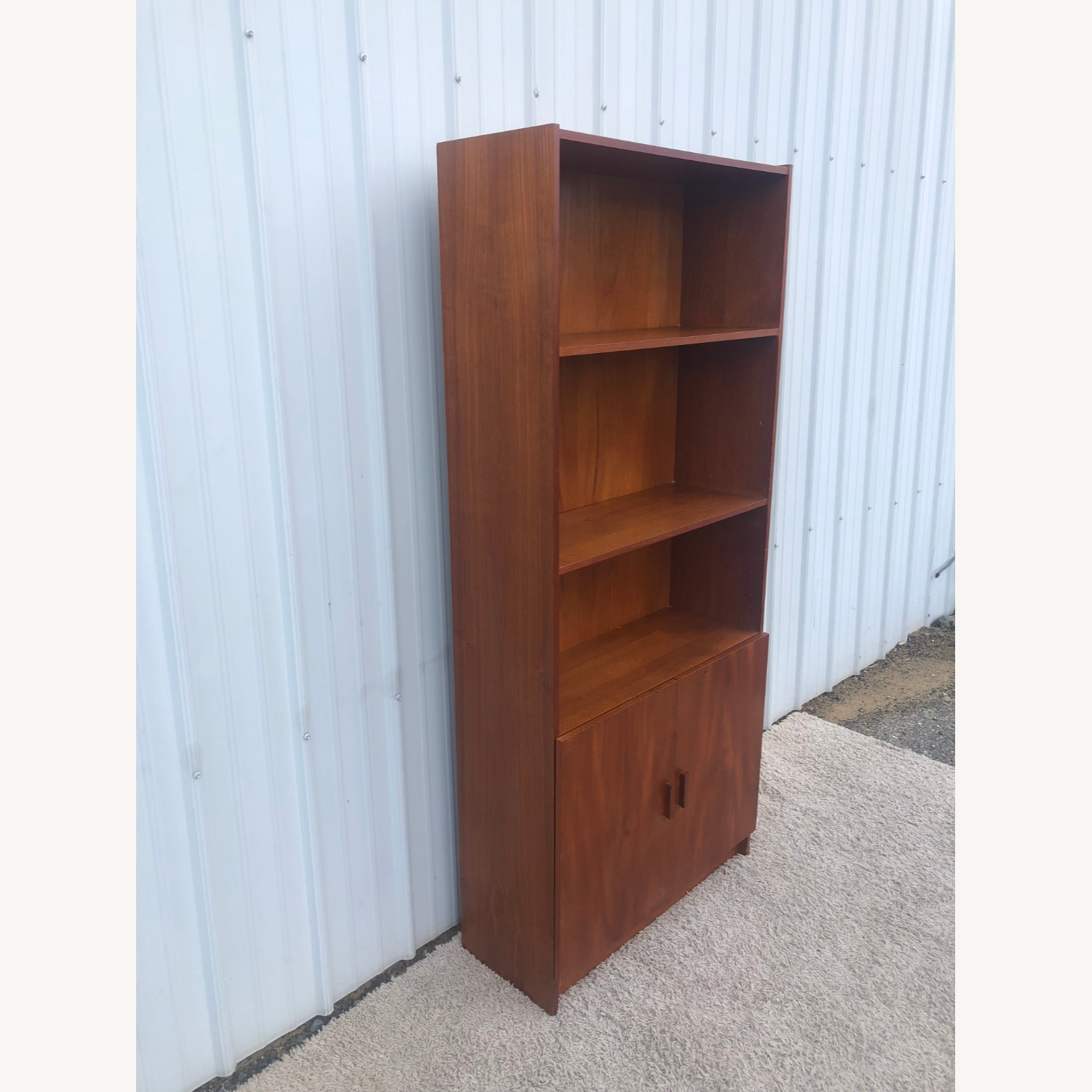 Danish Modern Teak Shelving with Cabinet - image-11