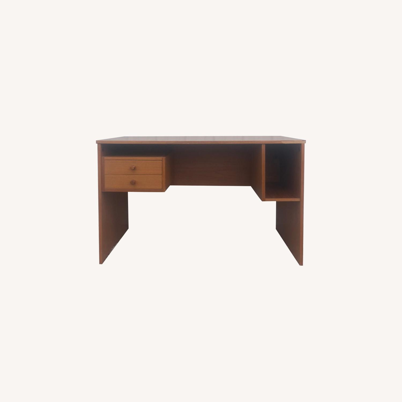 Image of: Danish Modern Teak 2 Drawer Desk Aptdeco