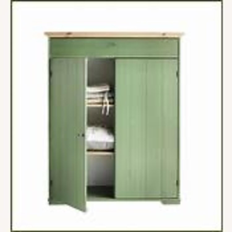 IKEA Green Woood Linen Cabinet