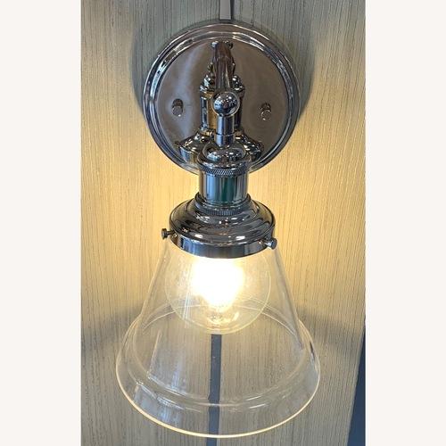 Used Nuvo Lighting Nickel Sconce for sale on AptDeco