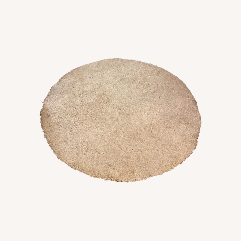 West Elm Darby Round Shag Rug - image-0