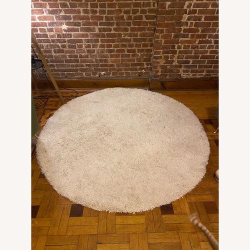 Used West Elm Darby Round Shag Rug for sale on AptDeco