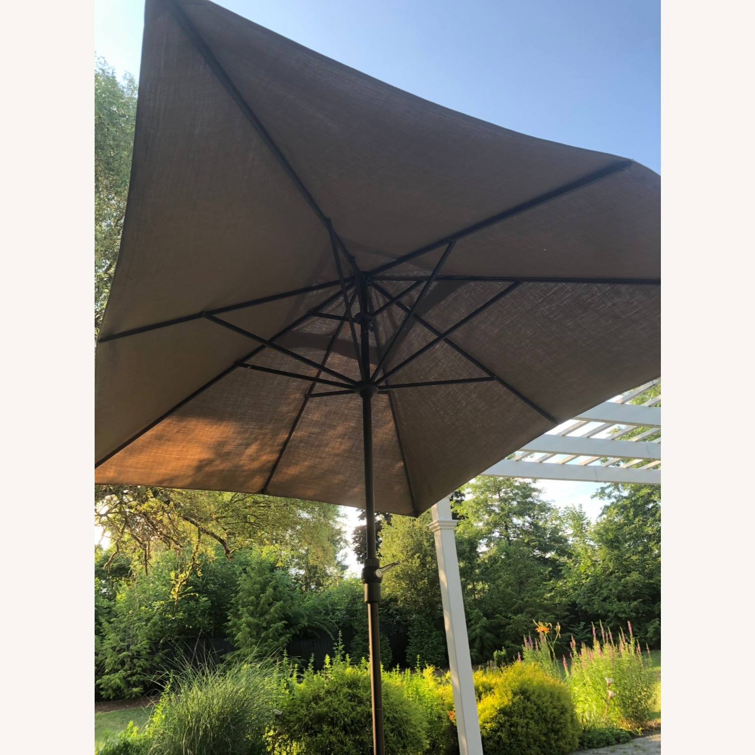 Fortunoff Outdoor Dining Set with Umbrella - image-13