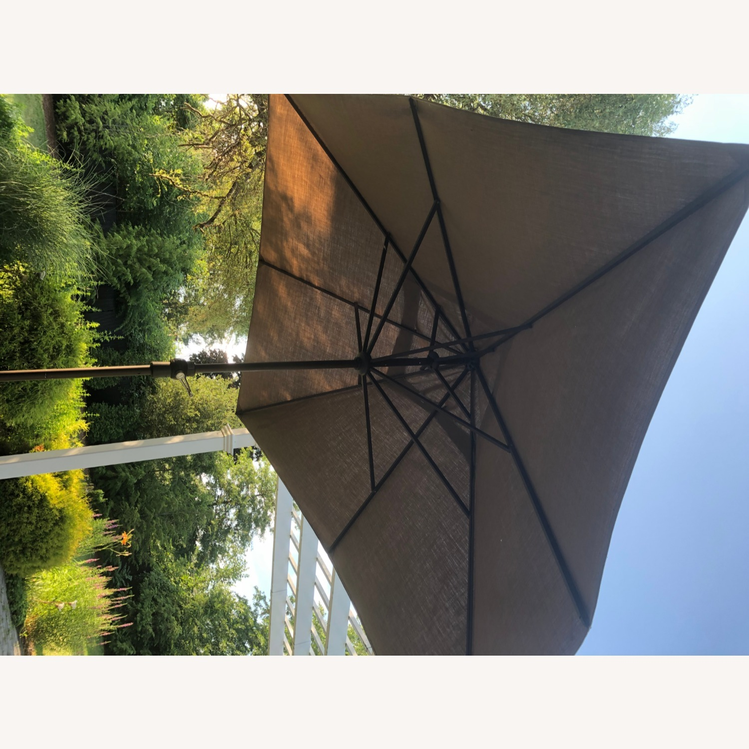 Fortunoff Outdoor Dining Set with Umbrella - image-15