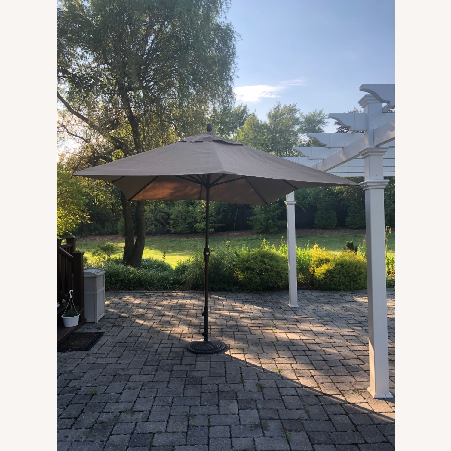 Fortunoff Outdoor Dining Set with Umbrella - image-12