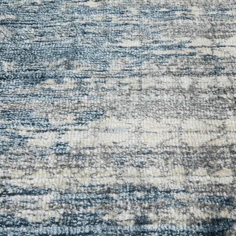 West Elm Echo Print Rug, Dusty Blue - image-2