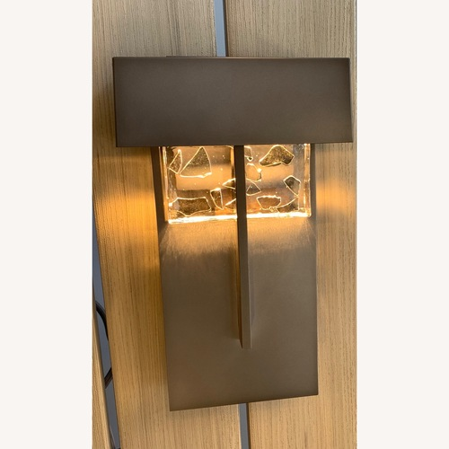 Used Hubbardton Forge Shard Large Outdoor Sconce for sale on AptDeco