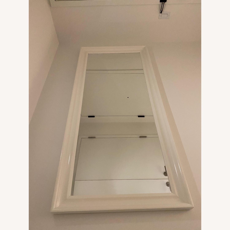 Ikea White Full Body Mirror Hanging Or Floor Aptdeco