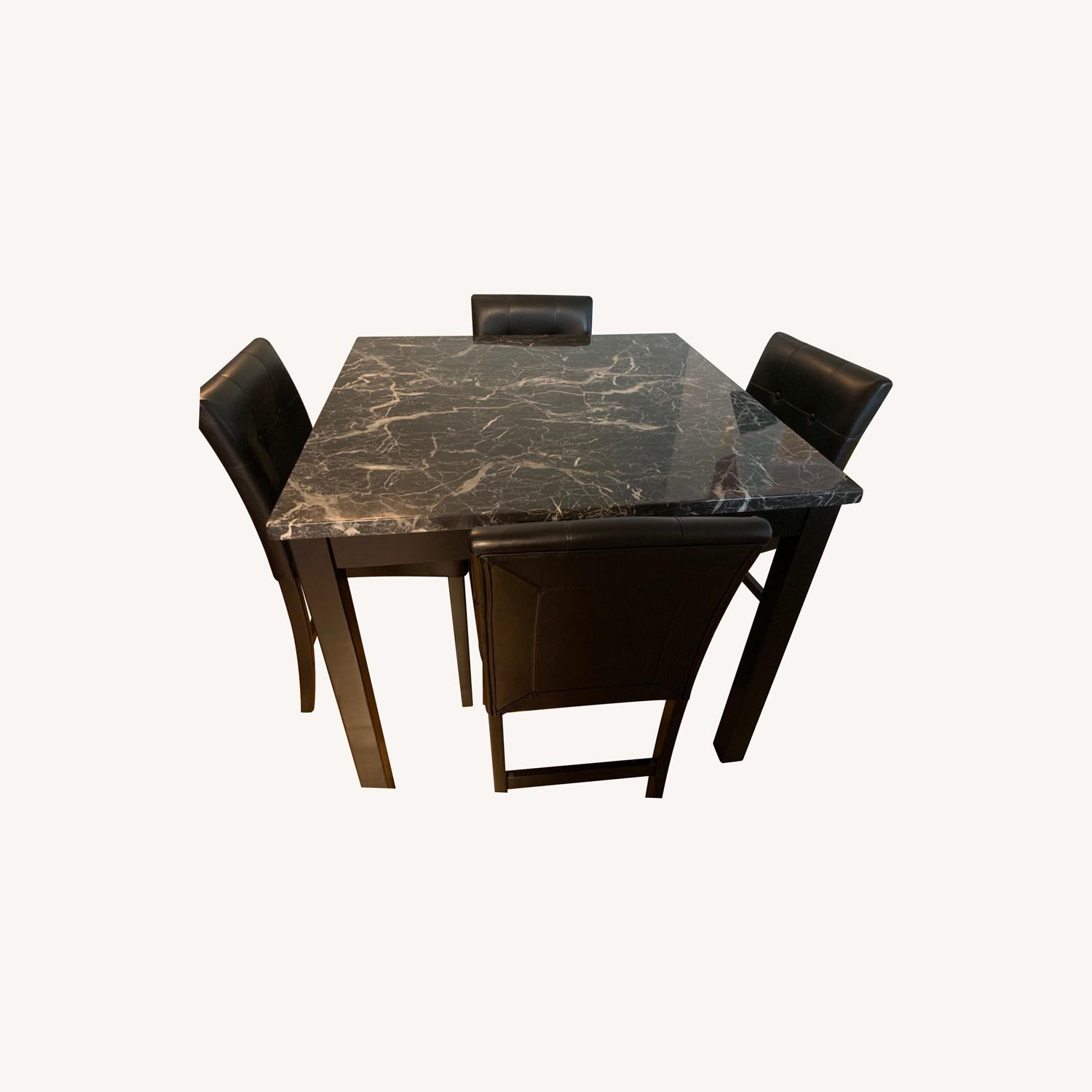 Walmart Harper & Bright Faux Marble Dining Set - image-0