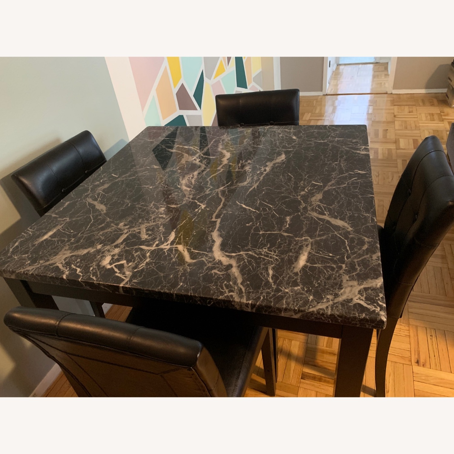 Walmart Harper & Bright Faux Marble Dining Set - image-3