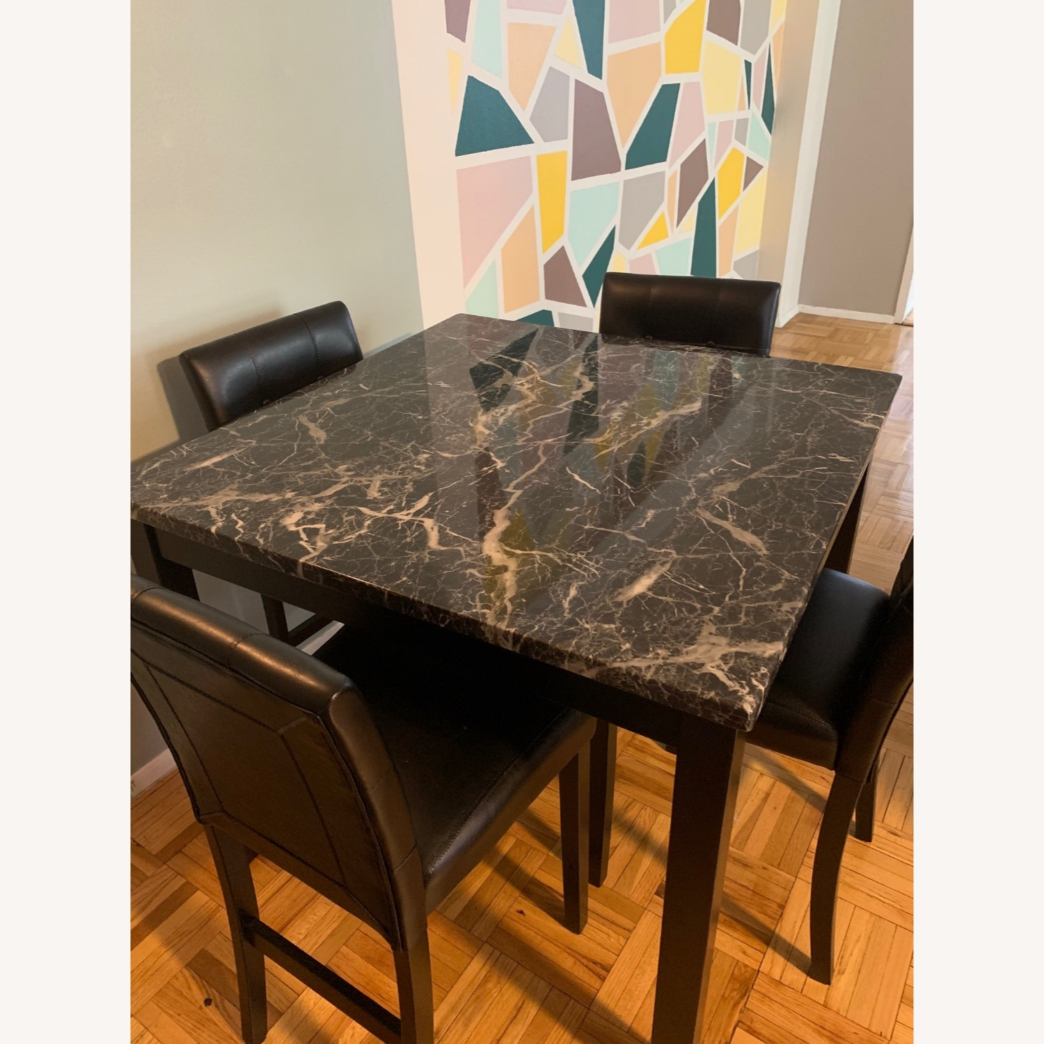 Walmart Harper & Bright Faux Marble Dining Set - image-1