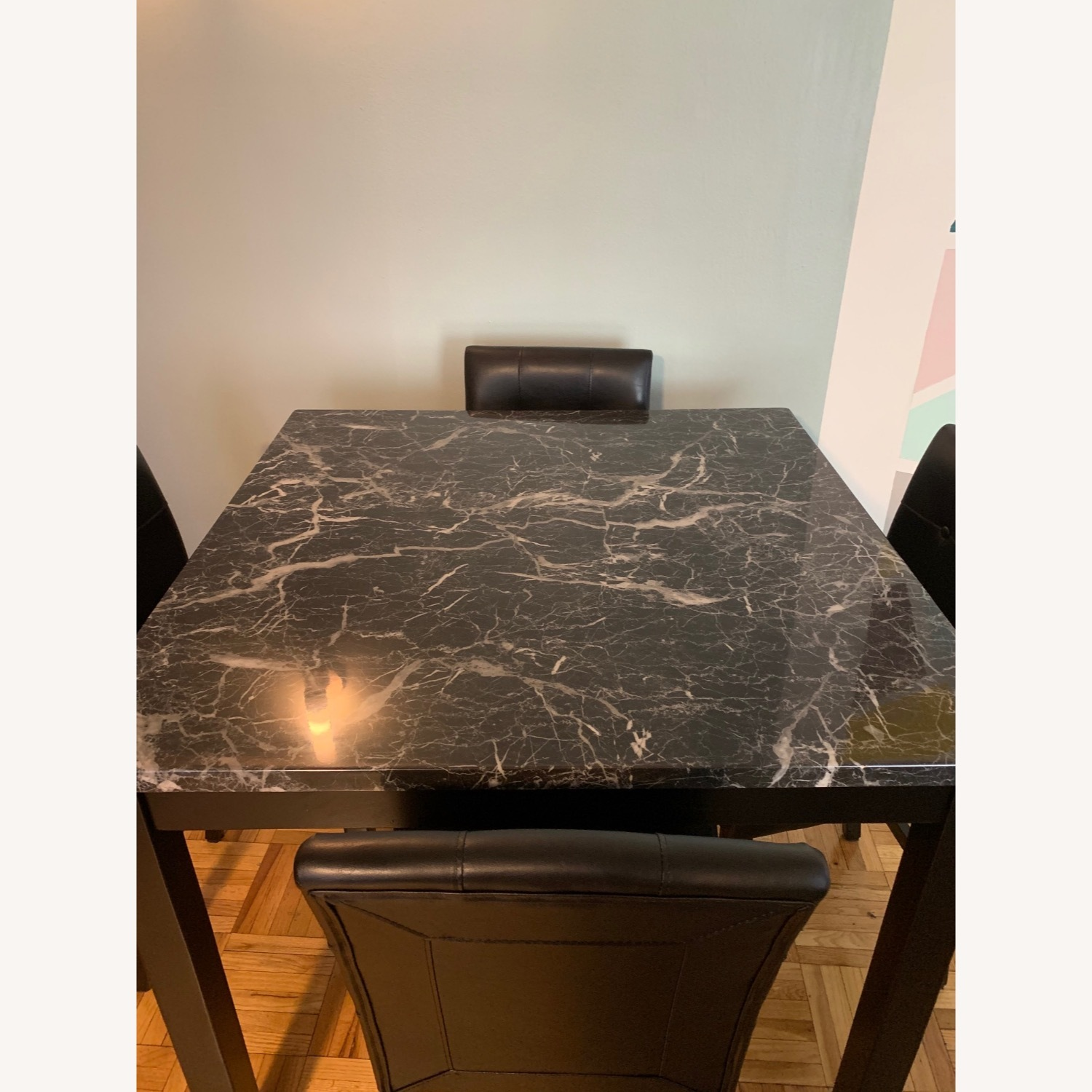 Walmart Harper & Bright Faux Marble Dining Set - image-4