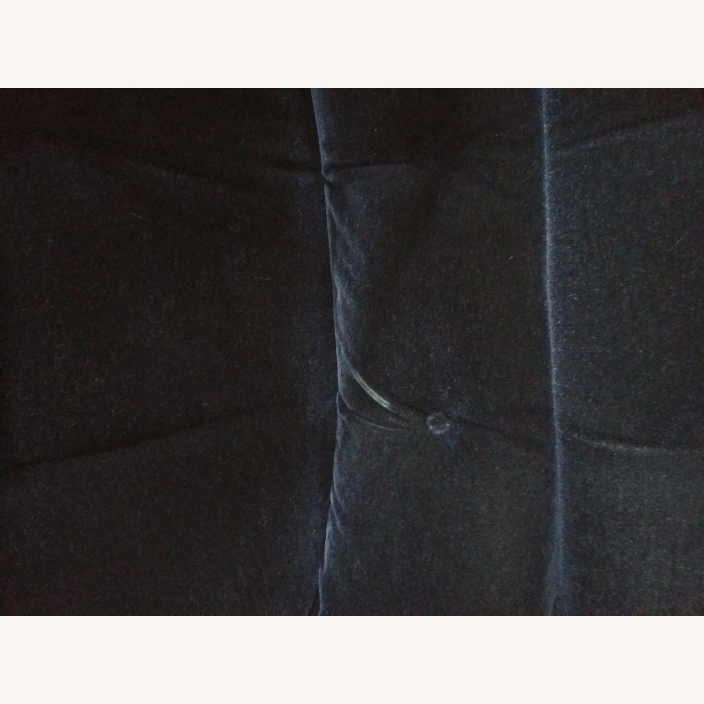 Knoll Vintage Pollock Chairs in Blue Velvet - image-6