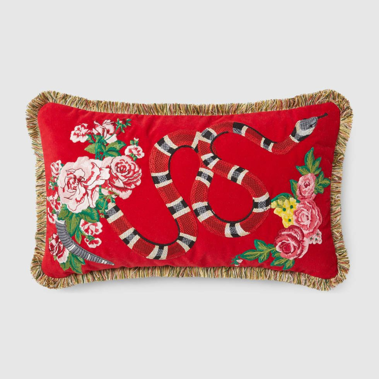 Gucci Kingsnake Pillow Red - image-0