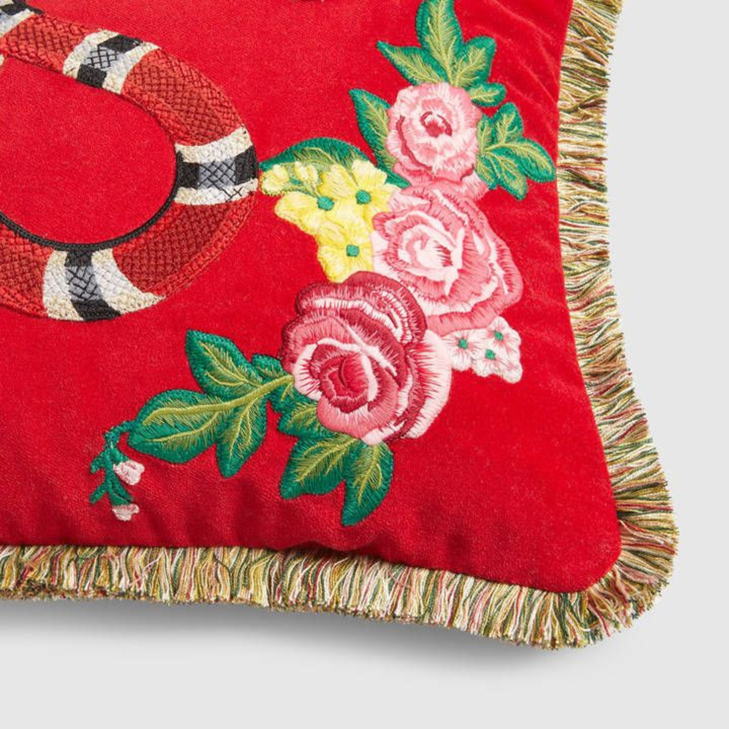 Gucci Kingsnake Pillow Red - image-1