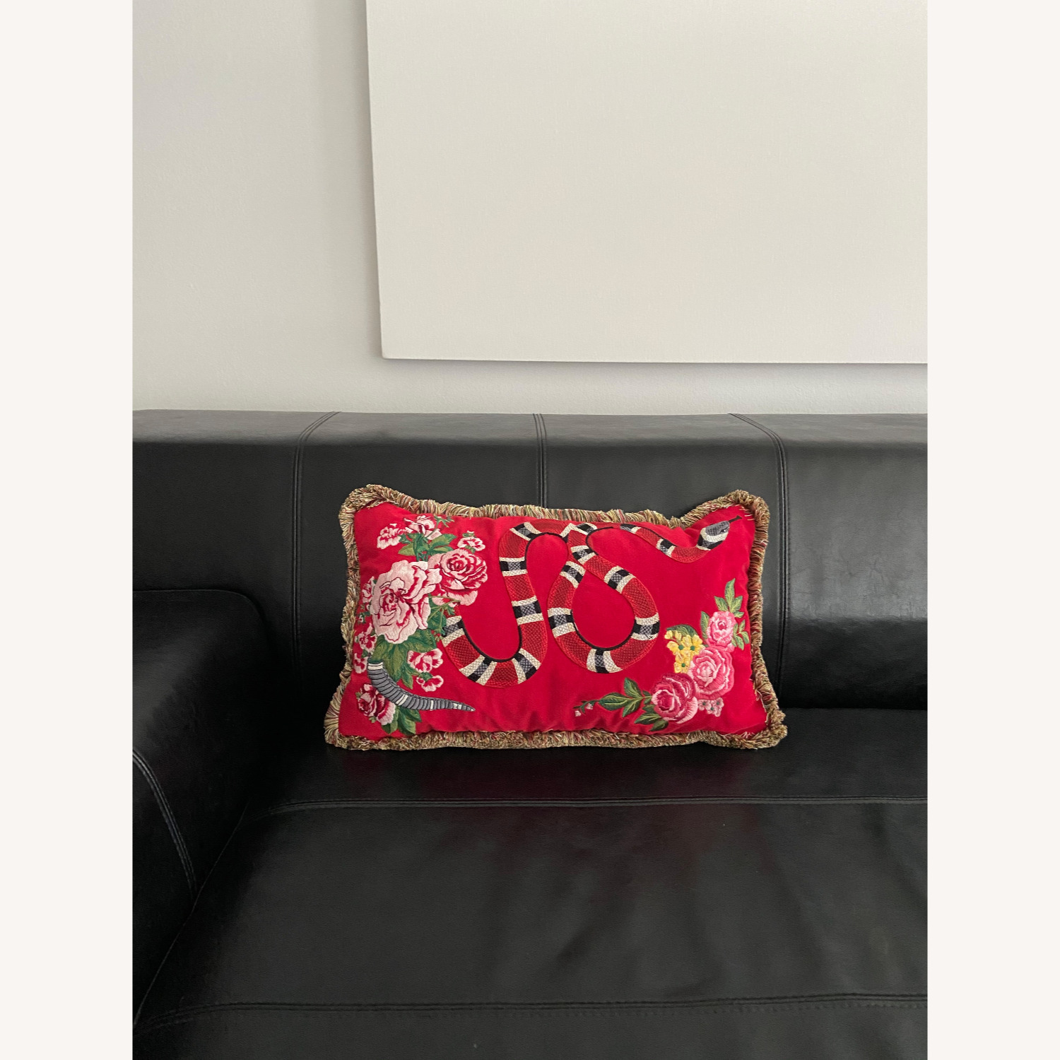 Gucci Kingsnake Pillow Red - image-2