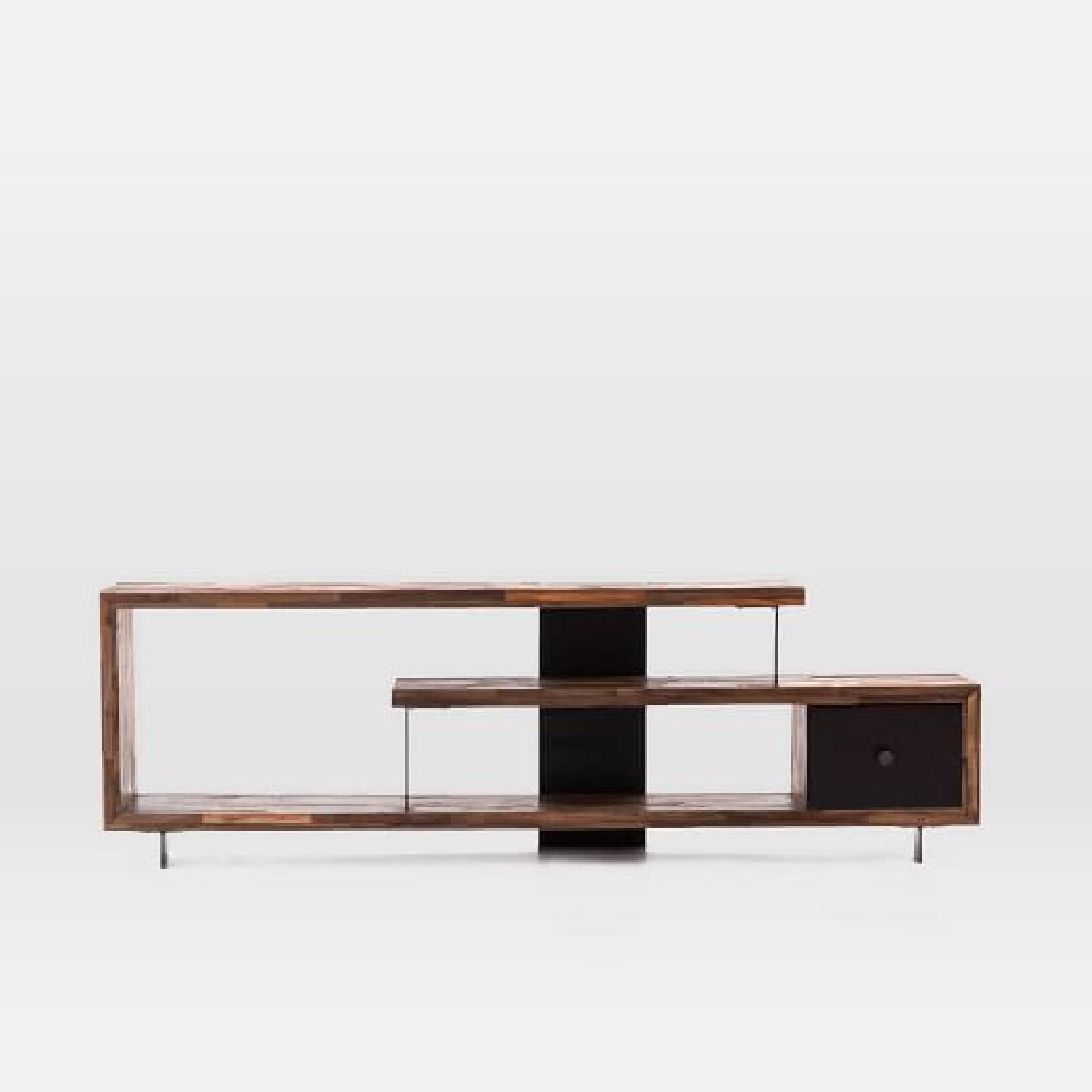 West Elm Staggered Wood Media Console - image-5