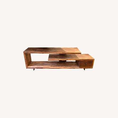 Used West Elm Staggered Wood Media Console for sale on AptDeco
