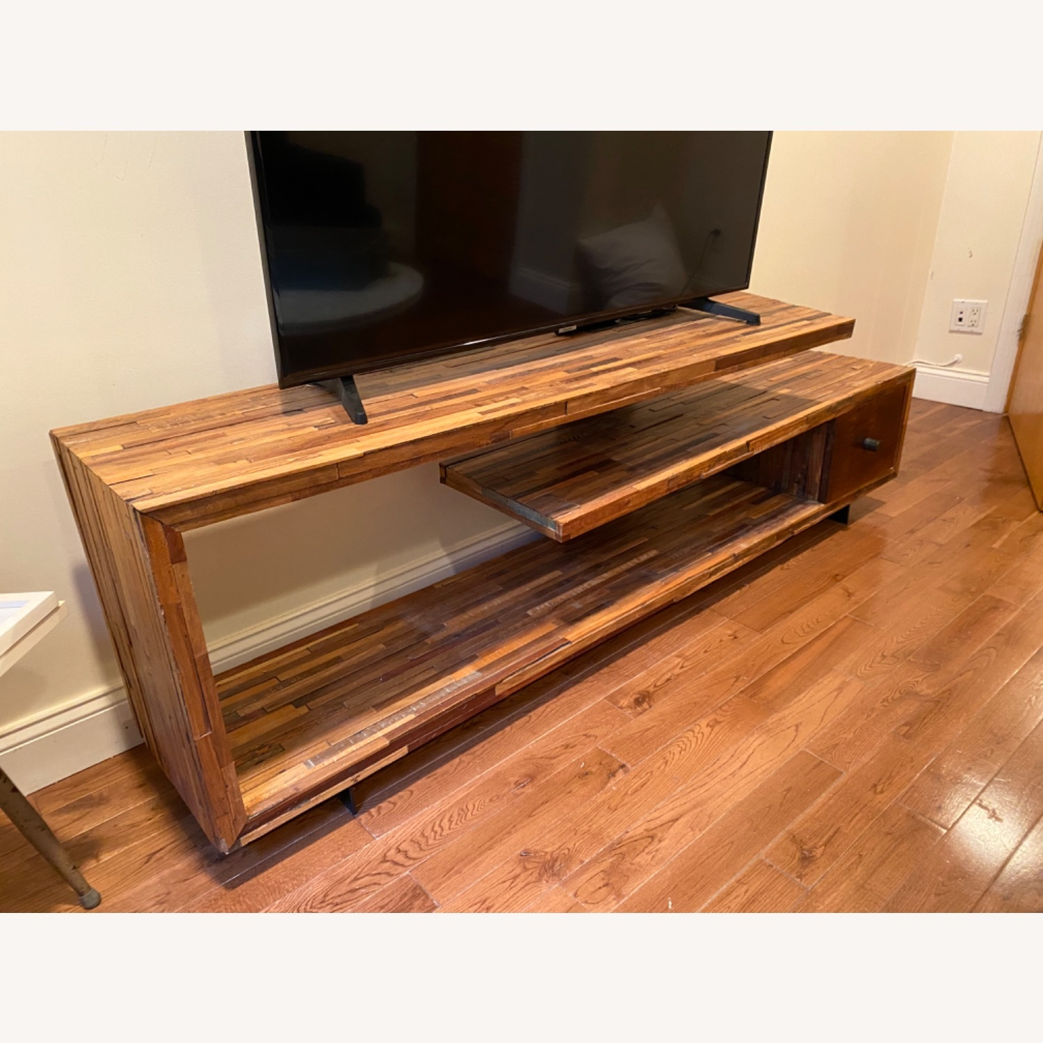 West Elm Staggered Wood Media Console - image-1