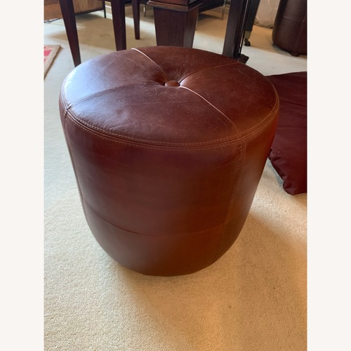 Used Pottery Barn Leather Footstools for sale on AptDeco