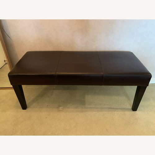 Used Crate & Barrel Leather Bench for sale on AptDeco