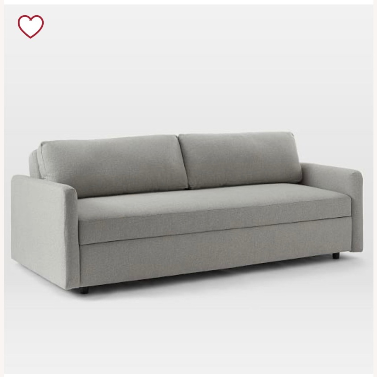 West Elm Clara sleeper sofa - image-1