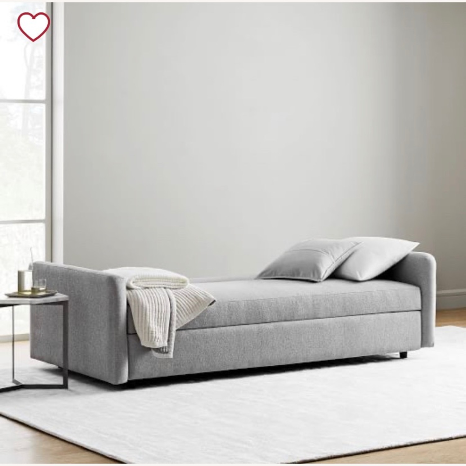 West Elm Clara sleeper sofa - image-2