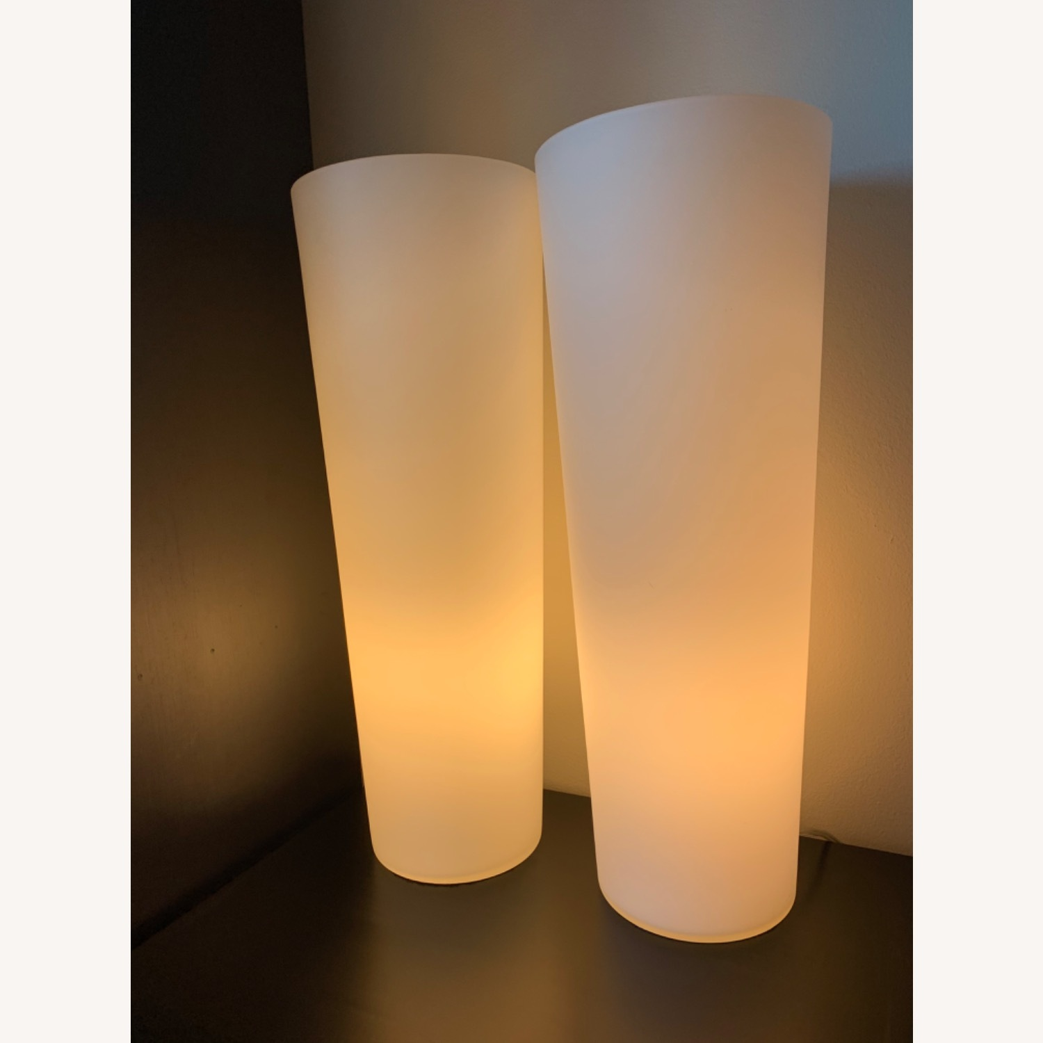 Crate & Barrel Marina Frosted Glass Lamp - image-1