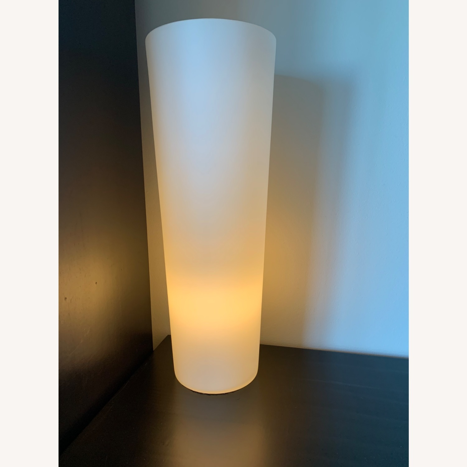 Crate & Barrel Marina Frosted Glass Lamp - image-0