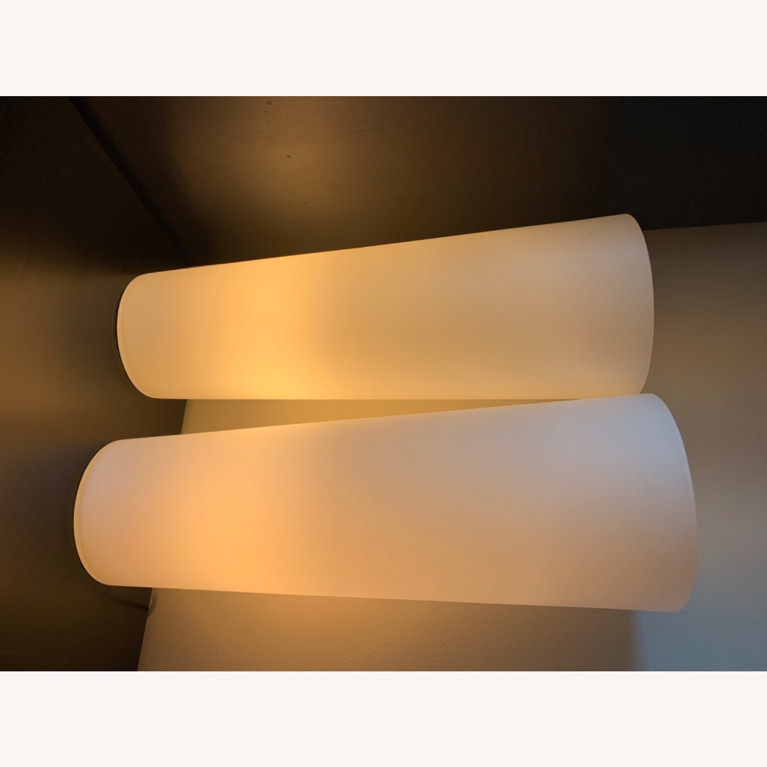 Crate & Barrel Marina Frosted Glass Lamp - image-6