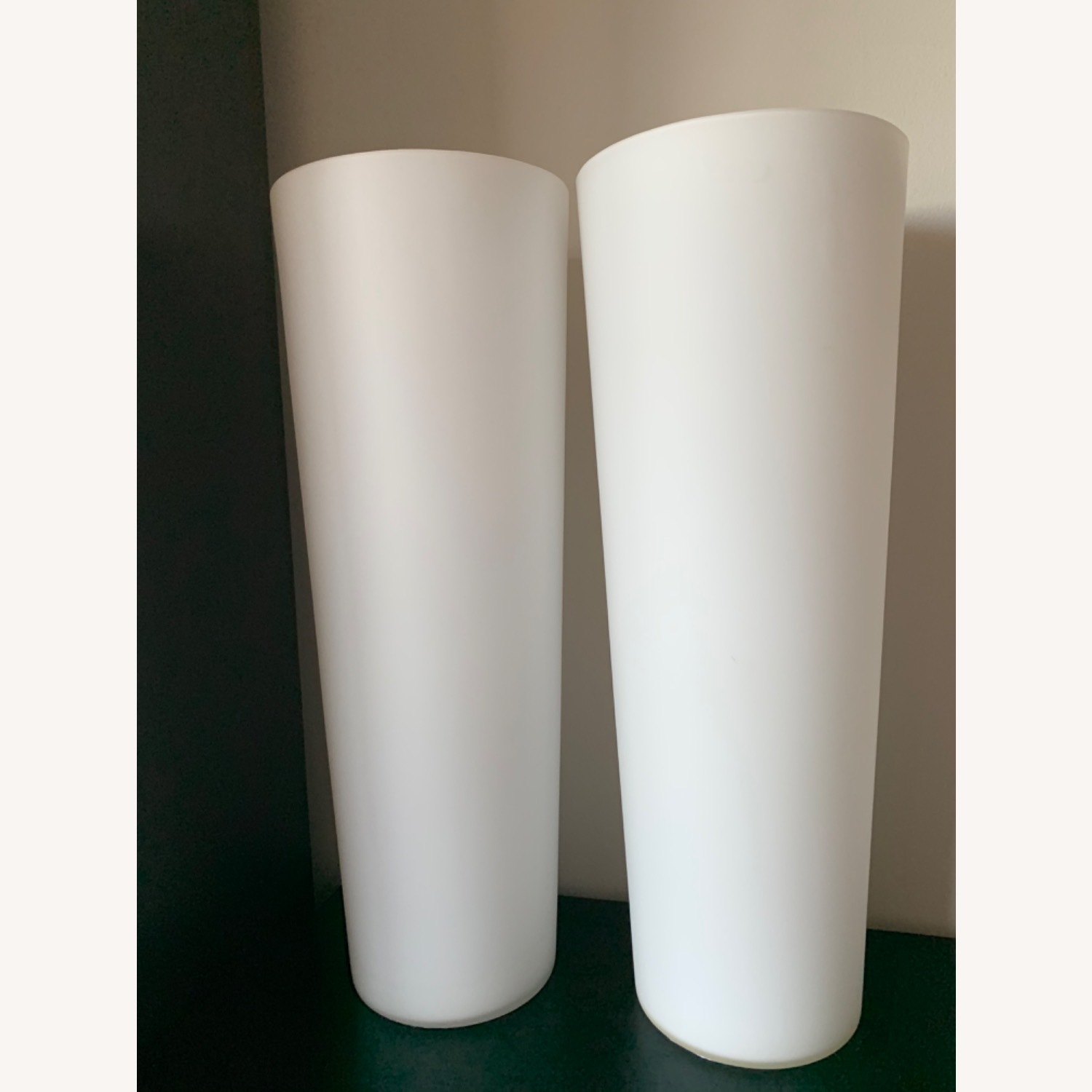 Crate & Barrel Marina Frosted Glass Lamp - image-3