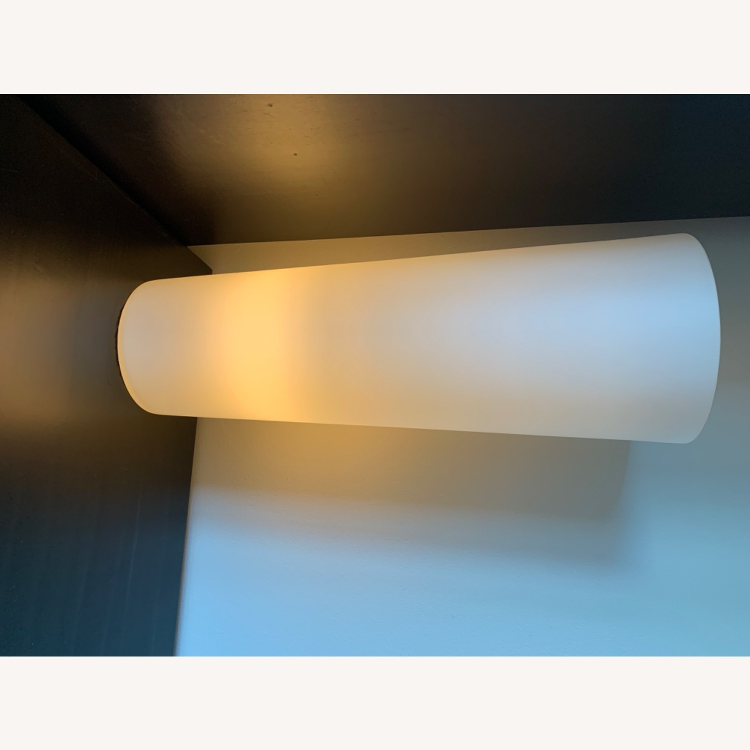 Crate & Barrel Marina Frosted Glass Lamp - image-4