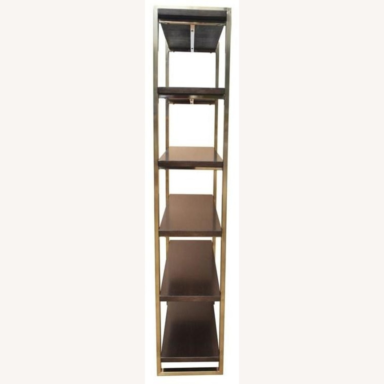 Modern Bookcase w/ Rose Brass Finished Frame - image-2