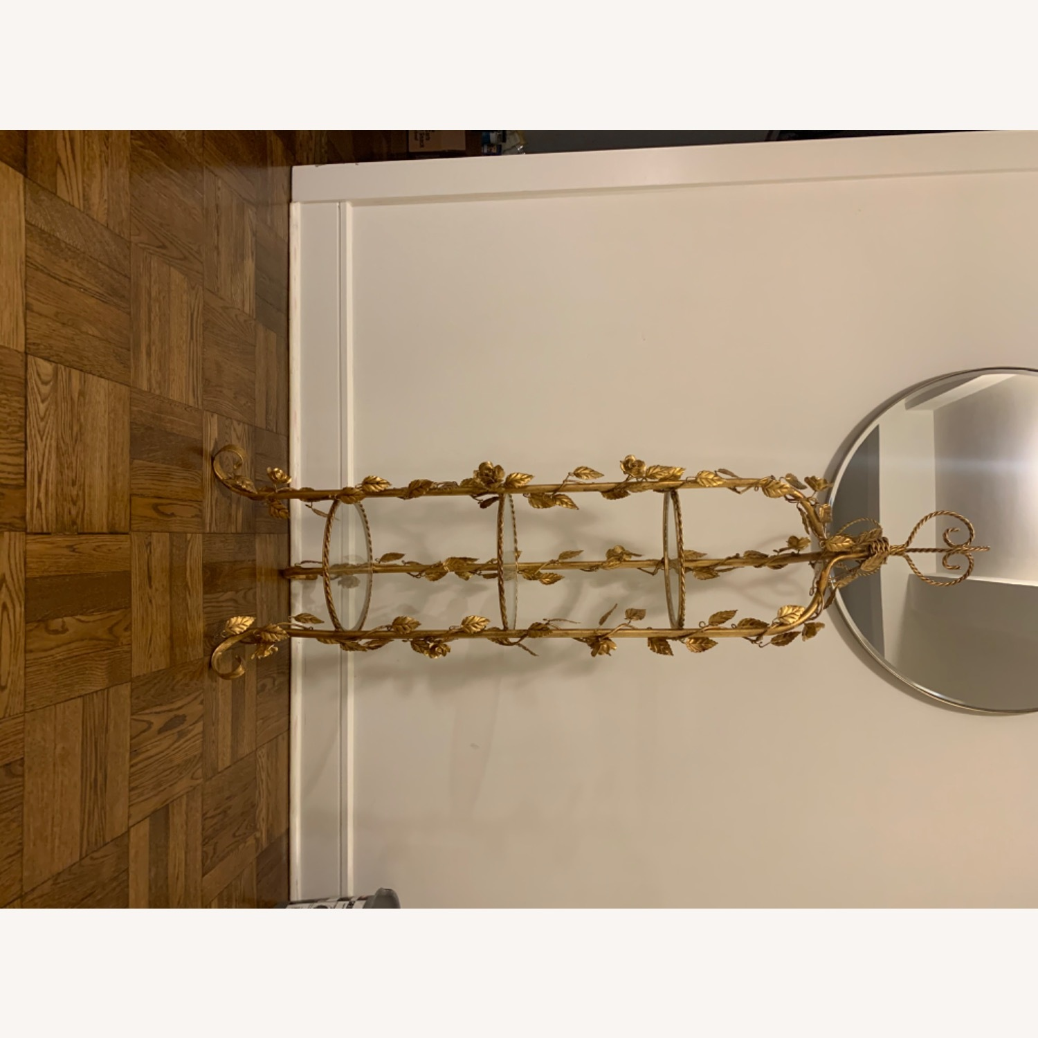Antique Gold and Glass Etagere - image-7
