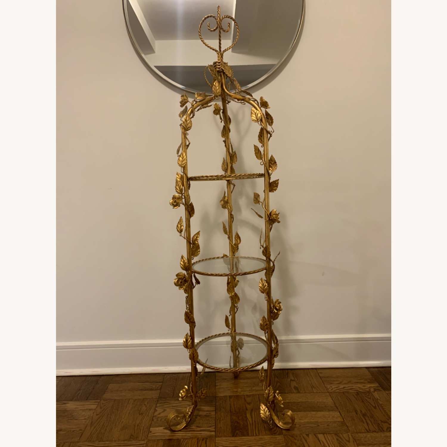 Antique Gold and Glass Etagere - image-2