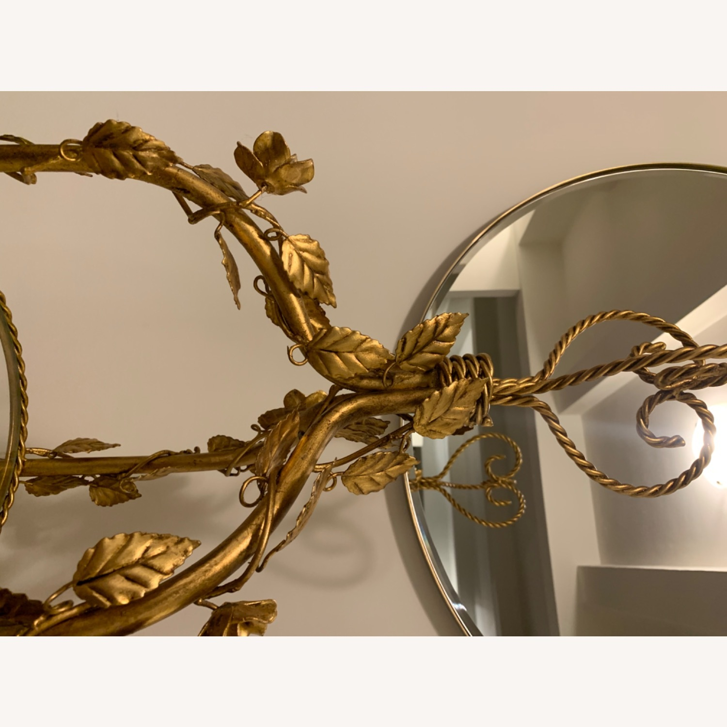 Antique Gold and Glass Etagere - image-12