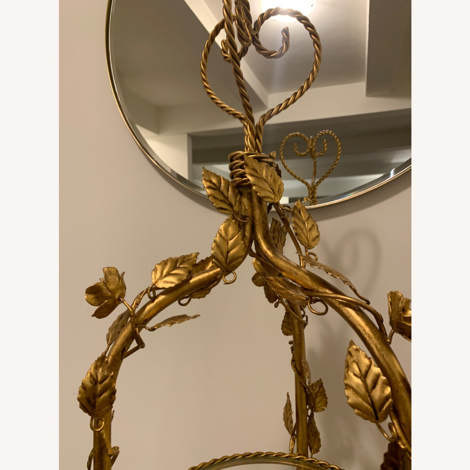 Antique Gold and Glass Etagere - image-6