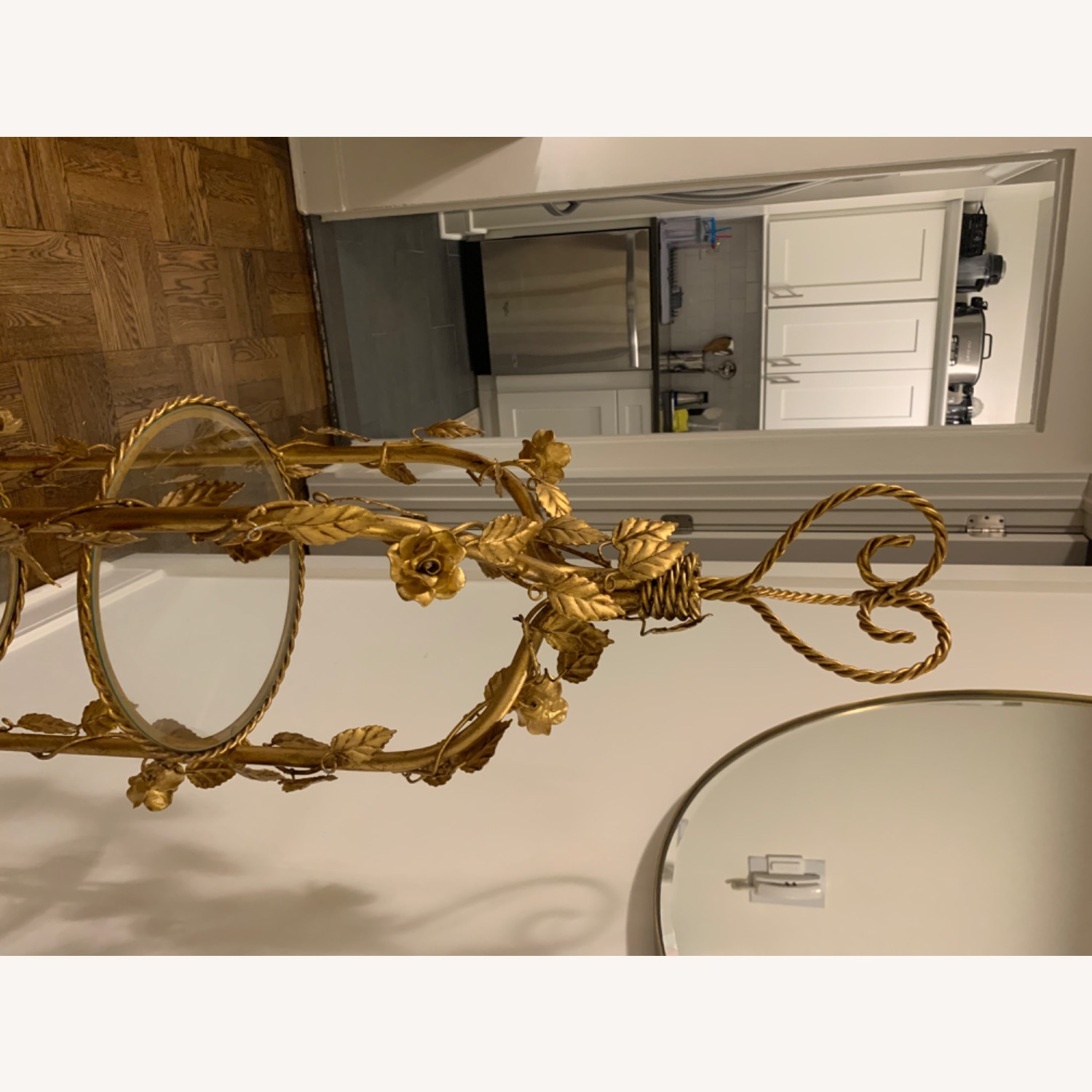 Antique Gold and Glass Etagere - image-9