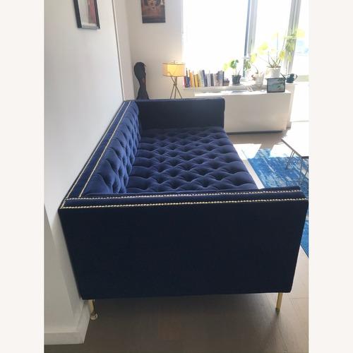 Used ModShop Extra Deep Sofa Hand Tufted in Navy Velvet for sale on AptDeco