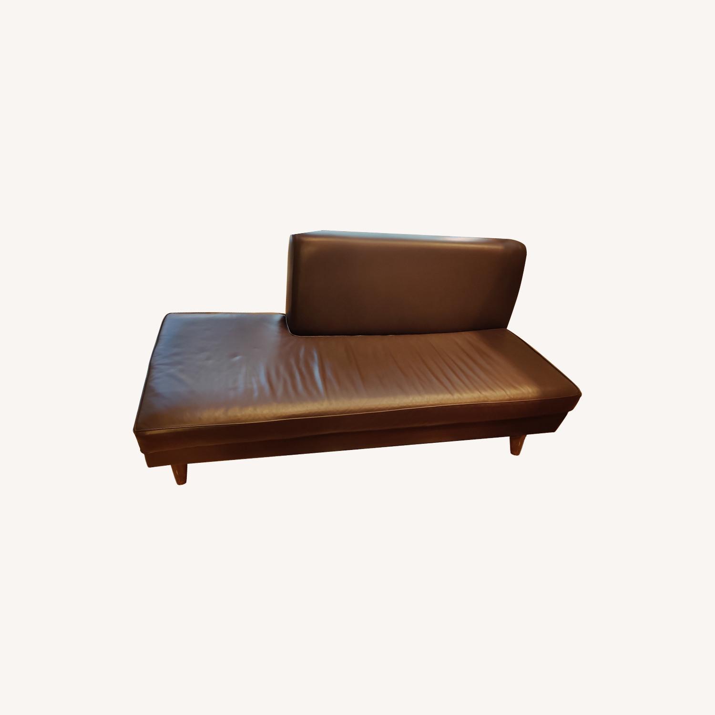 Edelman Leather Custom Made Armless Sofas - image-0
