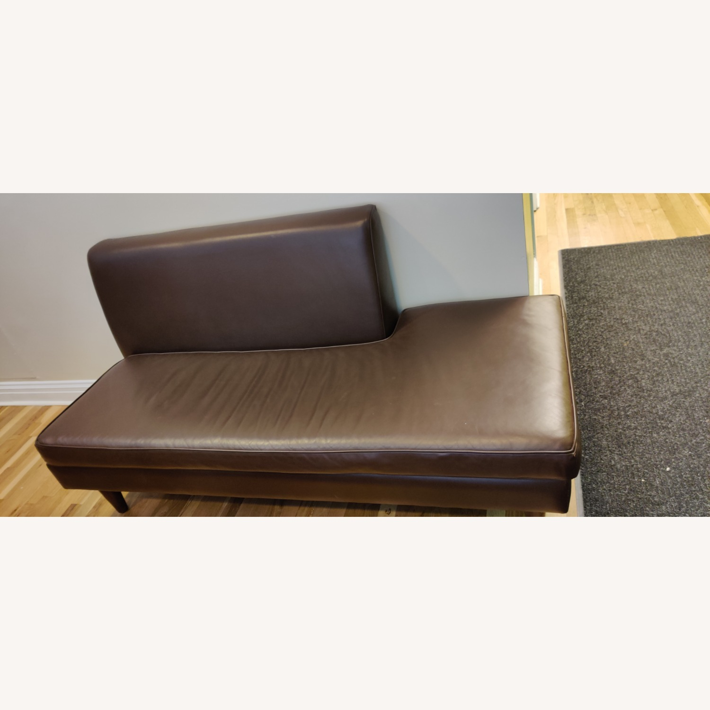 Edelman Leather Custom Made Armless Sofas - image-2