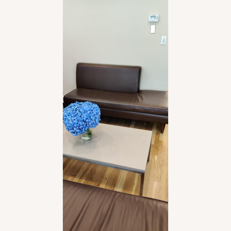 Edelman Leather Custom Made Armless Sofas - image-1