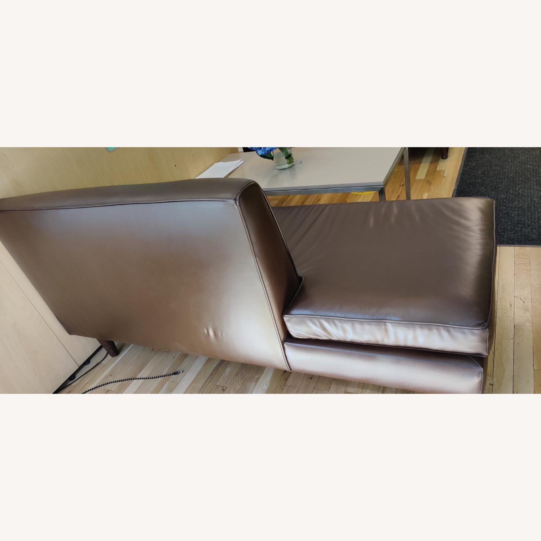Edelman Leather Custom Made Armless Sofas - image-4